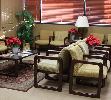 Side View of Patient Waiting Room at Texas Spine Center in Houston